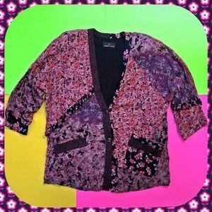 Vintage 80s / 90s snazzy floral jacket